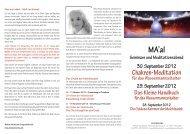 Ma'al Seminare und Meditationsabend 30. September 2012 - ARDAS