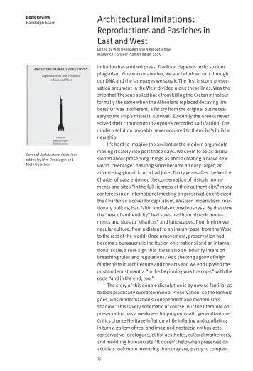 Architectural Imitations: - Columbia University Graduate School of ...