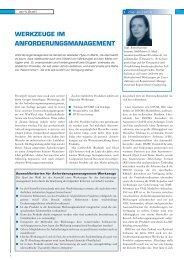 WERKZEUGE IM ANFORDERUNGSMANAGEMENT - Arcway AG