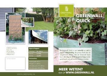 Greenwall Quick brochure - Architectenweb
