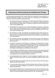 Wahlordnung zur Wahl der Ausschüsse der Architektenkammer ...
