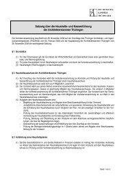 Satzung über die Haushalts - Architektenkammer Thüringen