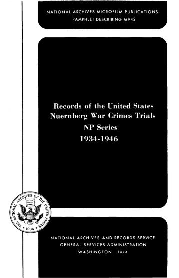 M942 - National Archives and Records Administration