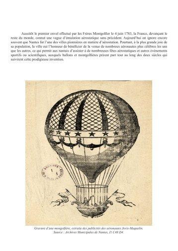 """Fichier PDF du dossier """"Aérostats"""" - Archives municipales de Nantes"""