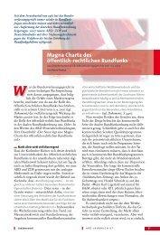 Magna Charta des öffentlich-rechtlichen Rundfunks - ARD