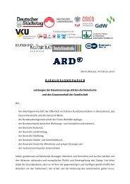 Diskussionspapier: Leistungen der Daseinsvorsorge stärken ... - ARD