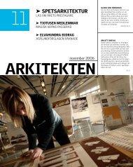 11 spETsARKITEKTuR - Sveriges Arkitekter