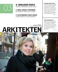 03 BoNjoUR pARIs - Sveriges Arkitekter