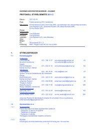 protokoll styrelsemöte 2011:2 1. styrelsefrågor - Sveriges Arkitekter
