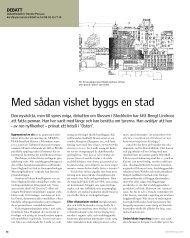 Med sådan vishet byggs en stad - Sveriges Arkitekter