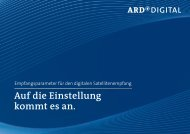 Auf die Einstellung kommt es an. - ARD Digital