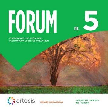 Forum 5, mei - juni, jaargang 18 - Artesis