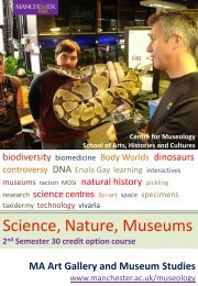 Science, Nature, Museums - School of Arts, Histories and Cultures ...
