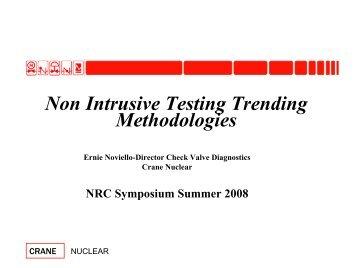 Trending Using Nonintrusive Check Valve Technologies - Events