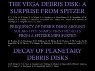 THE VEGA DEBRIS DISK: A SURPRISE FROM SPITZER DECAY ...