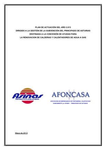 Plan de actuación 2013 - Gobierno del principado de Asturias