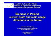 Biomass in Poland: current state and main usage directions in ... - ATB