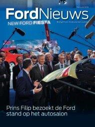 Prins Filip bezoekt de Ford stand op het autosalon