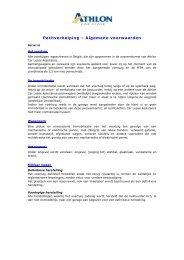 Pechverhelping – Algemene voorwaarden - Athlon Car Lease