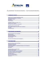 algemene voorwaarden - autoverzekering - Athlon Car Lease