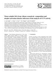 Water-soluble SOA from Alkene ozonolysis - Atmospheric Chemistry ...