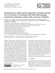 Measurements of volatile organic compounds at a suburban ground ...