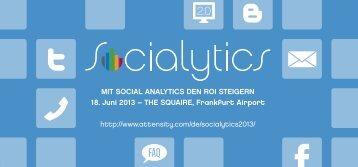 MIT SOCIAL ANALYTICS DEN ROI STEIGERN 18. Juni 2013 – THE ...