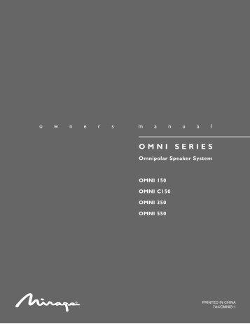 Omni Series (9 lang)5 singles - Audio Products Australia