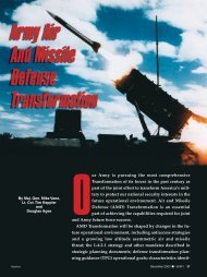 Army Air and Missile Defense Transformation - Association of the ...