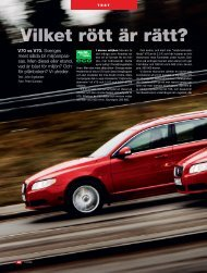 V70 vs V70. Sveriges mest sålda bil miljöanpas- sas. Men diesel ...