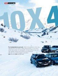 Tio fyrhjulsdrivna pá snö. Vilken fyrhjulsdriven bil tar dig säkrast fram ...