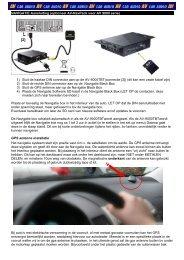 NAVIGATIE Aansluiting (optioneel AV-NavPack voor AV ... - Autovision