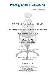 Statens Ramavtal Möbler * - Avropa.se