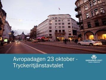 Presentation ramavtal Tryckeritjänster - Avropa.se
