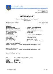 Gemeinderatssitzung vom 11.6.2007 - .PDF - Gemeinde Axams ...