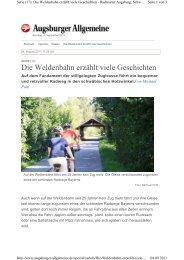 Die Weldenbahn erzählt viele Geschichten - Aystetten