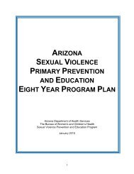 arizona sexual violence primary prevention and education eight ...