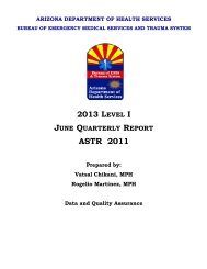 June Quarterly Report - Arizona Department of Health Services