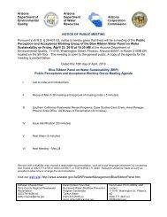 Agenda - Arizona Department of Water Resources