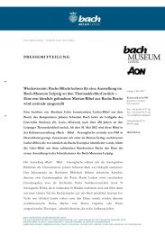2012-05-09: Bachs Bibeln im Bach-Museum - Bach-Archiv Leipzig