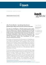 Netzwerk Thomanerchor - Bach-Archiv Leipzig