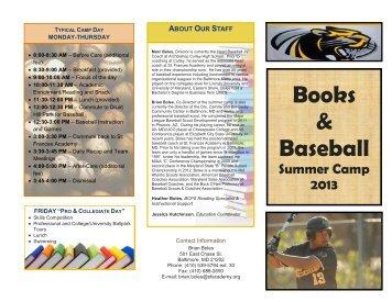 Books & Baseball - Baltimore City Public Schools