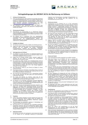 Download Agbs - Lizenzkauf und -pflege (PDF) - Arcway AG