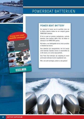 Download PDF over powerboat batterijen - Battery Supplies