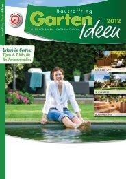 Garten-Ideen 2012 - bei Baustoffe MEIER