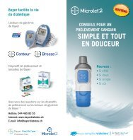 sImplE Et tout EN douCEur - Bayer Diabetes Care Schweiz