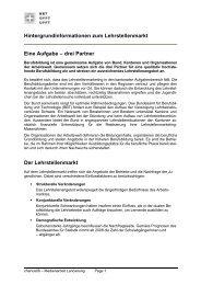 Hintergrundinformationen zum Lehrstellenmarkt Eine ... - Bbaktuell