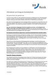 Informationen zum Einzug von Auslandsschecks - BBBank eG