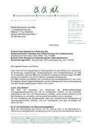 Landesraumordnungsgesetzes - Bundesverband Beruflicher ...