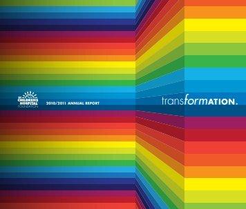 2010/2011 ANNUAL REPORT - BC Children's Hospital Foundation